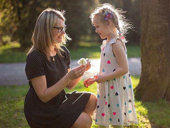 Plenerowa sesja rodzinna w Parku Śląskim